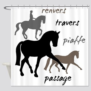 Dressage Movements Trio Shower Curtain