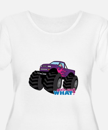 Monster Truck Driver Girl - Light/Blonde T-Shirt