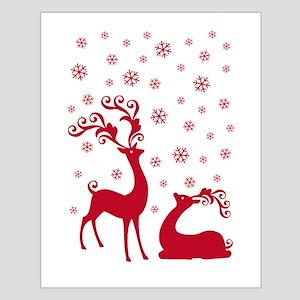 Cute Christmas deers Poster Kleine XXXXX