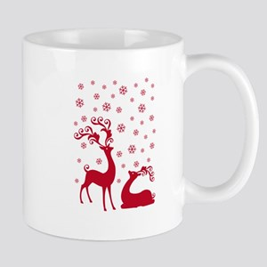 Cute Christmas deers Mugs