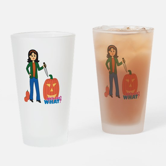 Pumpkin Carver Medium Drinking Glass