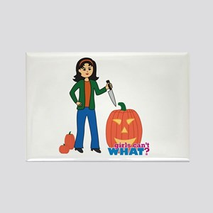 Pumpkin Carver Medium Rectangle Magnet