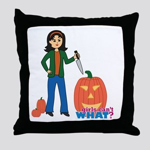 Pumpkin Carver Medium Throw Pillow