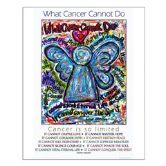 Colorful Cancer Angel Posters