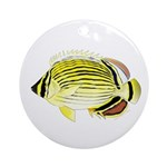 Oval Butterflyfish fish Ornament (Round)