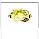Oval Butterflyfish fish Yard Sign