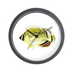 Oval Butterflyfish fish Wall Clock