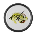 Oval Butterflyfish fish Large Wall Clock