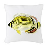 Oval Butterflyfish fish Woven Throw Pillow