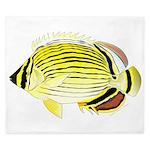 Oval Butterflyfish fish King Duvet