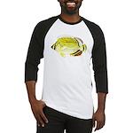 Oval Butterflyfish c Baseball Jersey