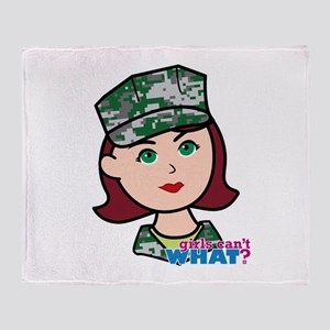 Marine Light/Red Head Throw Blanket