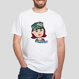 Marine Light/Red Head White T-Shirt