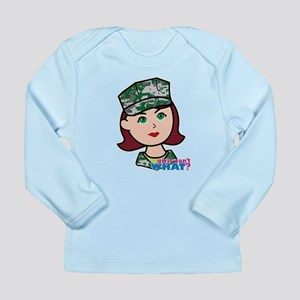 Marine Light/Red Head Long Sleeve Infant T-Shirt
