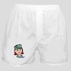 Marine Light/Red Head Boxer Shorts