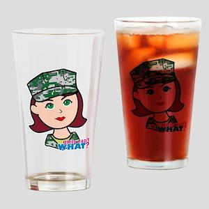 Marine Light/Red Head Drinking Glass