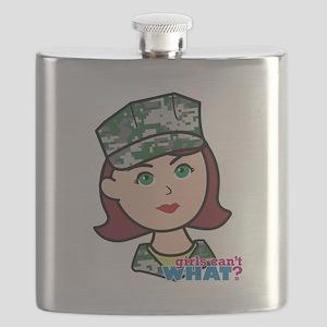 Marine Light/Red Head Flask