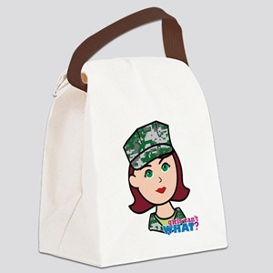 Marine Light/Red Head Canvas Lunch Bag