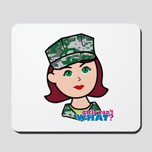 Marine Light/Red Head Mousepad