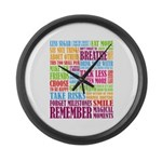Remember Large Wall Clock