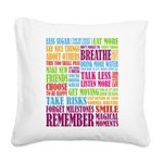 Remember Square Canvas Pillow