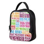 Remember Neoprene Lunch Bag