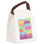 Remember Canvas Lunch Bag