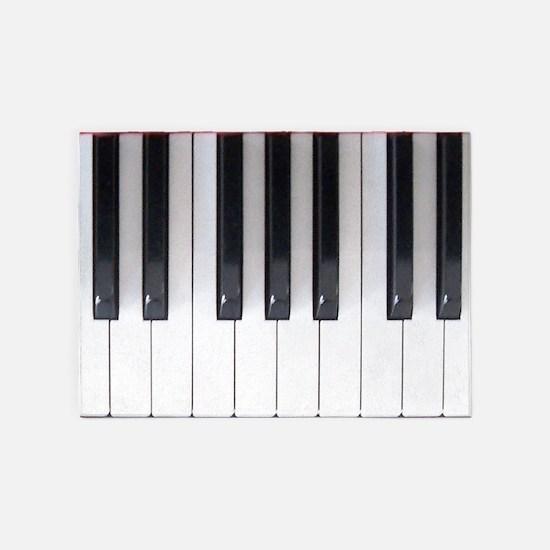 Keyboard 7 5'x7'Area Rug