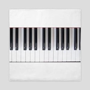 Piano Keyboard 6 Queen Duvet