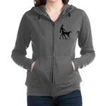 Art Flapper Walking Borzoi Zip Hoodie