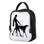 Art Flapper Walking Borzoi Neoprene Lunch Bag