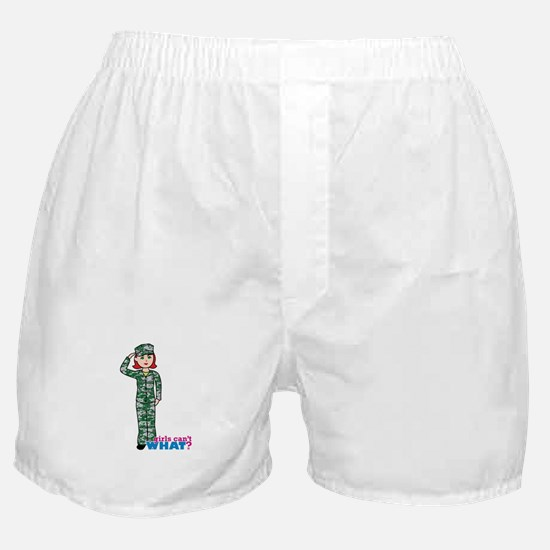 Marine Light/Red Boxer Shorts