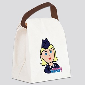 Air Force Head Blonde Canvas Lunch Bag
