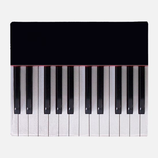 Piano Keys 5 Throw Blanket
