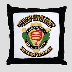 Army - 54th Artillery Group Throw Pillow