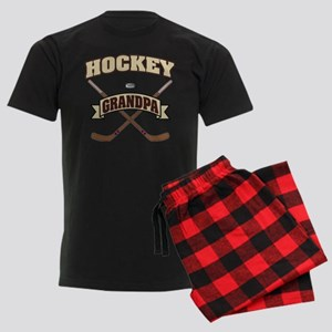 Hockey Grandpa Men's Dark Pajamas