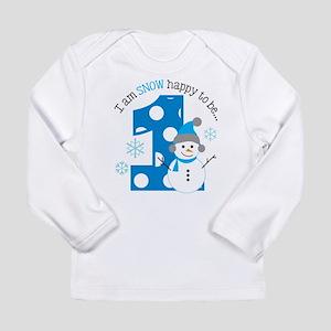 Snowman 1st Birthday Long Sleeve Infant T-Shirt