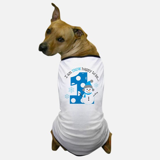 Snowman 1st Birthday Dog T-Shirt