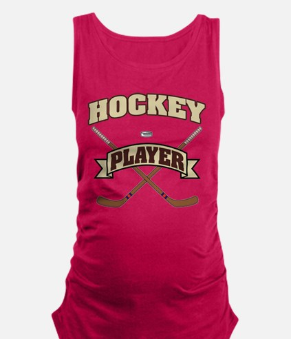 Hockey Player Maternity Tank Top