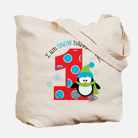 Penguin 1st Birthday Tote Bag