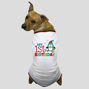 Penguin 1st Birthday Dog T-Shirt