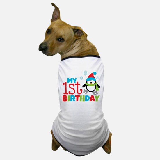 Penguin 1st Birthday Dog T-Shirt