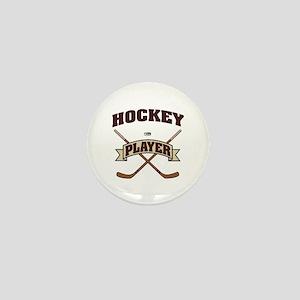 Hockey Player Mini Button