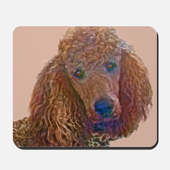 RED POODLE LOVE Mousepad