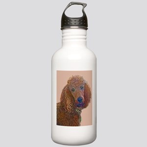 RED POODLE LOVE Water Bottle