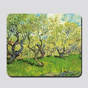 Orchard in Blossom, post impressionism f Mousepad