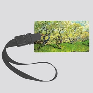 Orchard in Blossom, post impress Large Luggage Tag