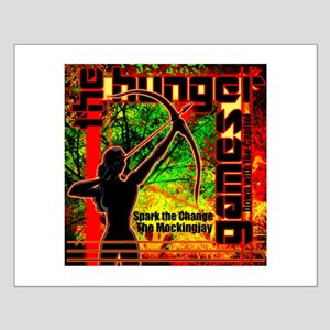Personalize Girl on Fire Small Poster