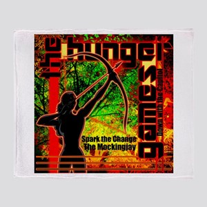 Personalize Girl on Fire Throw Blanket