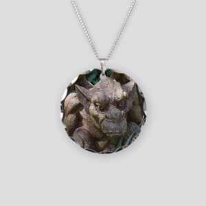 Photo of Gargoyle Statue Necklace Circle Charm